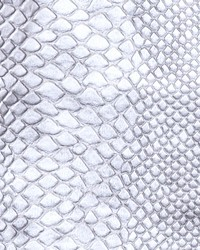Silver Faux Leather Studio Fabric  Brass Alloy Silver