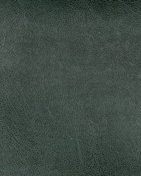 Green Faux Leather Studio Fabric  Pewter Emerald