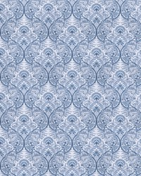 Blue French Country Toile Fabric  Rua Brot Blue