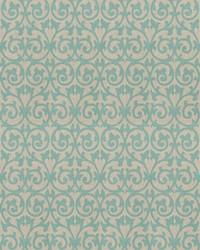 Blue Chromatics Vol XXIII Fabric Fabricut Fabrics Ezekiel Scroll Aquamarine