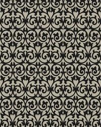 Black Chromatics Vol XXIII Fabric Fabricut Fabrics Ezekiel Scroll Onyx