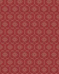 Red Chromatics Vol XXIII Fabric Fabricut Fabrics Kyeema Lattice Red