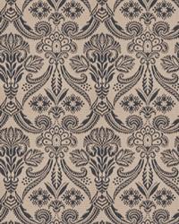 Blue Vignettes Vol XIV Fabric Fabricut Fabrics Wisdom Damask Indigo