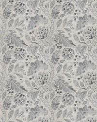 Grey French Country Toile Fabric  Beauvoir Grey