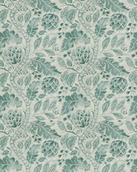 French Country Toile Fabric  Beauvoir Lagoon
