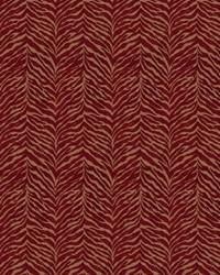 Red Color Studio Chenilles III Fabric  Perch Crimson