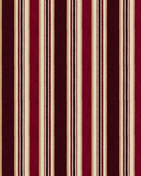 Red Color Studio Chenilles III Fabric  Casa Stripe Claret