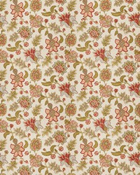 Orange Jacobean Fabrics  Prato Coral