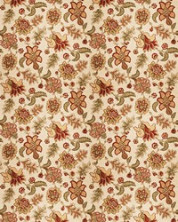 Orange Jacobean Fabrics  Prato Persimmon