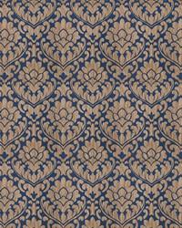 Blue Silk Nuances Fall 2015 Fabric  Ledger Damask Navy