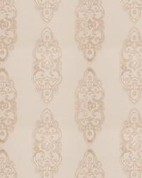 Beige Silk Nuances Fall 2015 Fabric  Grier Medallion Ecru