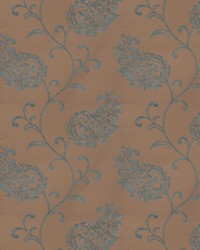 Blue Silk Nuances Fall 2015 Fabric  Liotta Paisley Turquoise