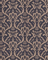 Blue Silk Nuances Fall 2015 Fabric  Costner Damask Navy