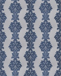 Blue Silk Nuances Fall 2015 Fabric  Vergara Damask Navy