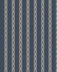 Blue Color Studio Vol VII Fabric Fabricut Fabrics Navajo Stripe Indigo