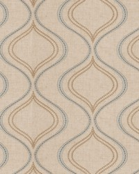 Fabricut Fabrics Bone Ogee Waterfall Fabric