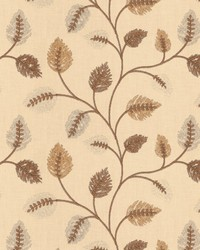 Fabricut Fabrics Betting Leaves Mocha Fabric