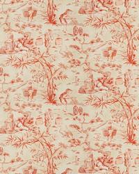 Orange Oriental Fabric  Blitz Toile Burnt Orange