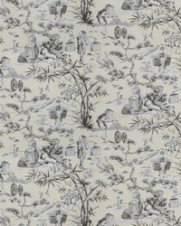 Black French Country Toile Fabric  Blitz Toile Noir
