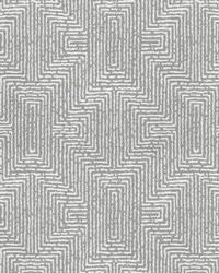Grey Kendall Wilkinson Fabric  Earth Maze Riverstone