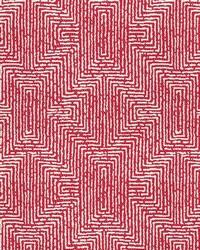 Red Kendall Wilkinson Fabric  Earth Maze Watermelon