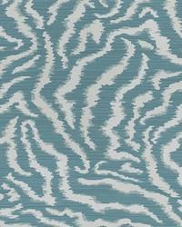 Blue Kendall Wilkinson Fabric  Bengal Tiger Tropic