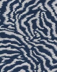 Blue Kendall Wilkinson Fabric  Bengal Tiger Dusk