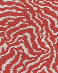 Red Kendall Wilkinson Fabric  Bengal Tiger Glow