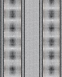 Grey Kendall Wilkinson Fabric  Sunset Stripe Stone