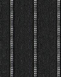 Black Kendall Wilkinson Fabric  Pier Stripe Black Rock