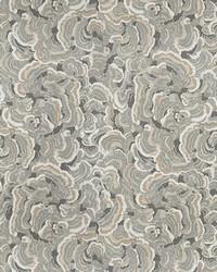 Grey Kendall Wilkinson Fabric  Woodlands Limestone