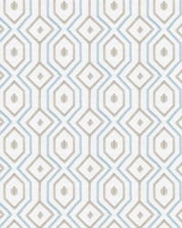 Fabricut Fabrics Catty Corner Aquamarine Fabric