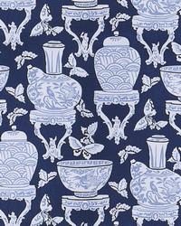 Blue Oriental Fabric  Tiller Indigo