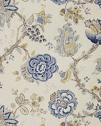 Jacobean Floral Fabric  Jib Floral Fresh Air
