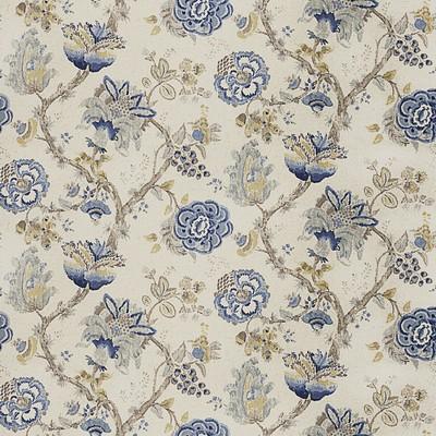 Fabricut Fabrics JIB FLORAL FRESH AIR Jacobean Floral Fabric
