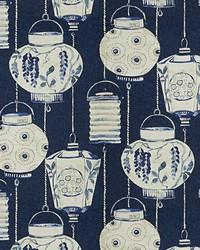 Oriental Fabric  Lantern Boom Lapis