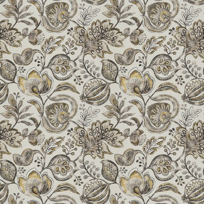 Fabricut Fabrics LUBBER GOLDENROD Jacobean Floral Fabric