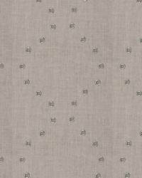 Silver Pure Elegance Fabric  Riveting Linen Natural Sterling
