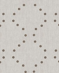 Gold Pure Elegance Fabric  Riveting Linen Ivory Bronzed