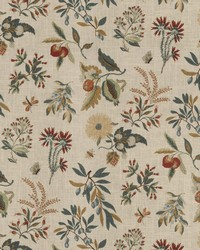 Orange Fruit Fabric  Fleur Botanical Sienna