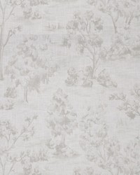 Grey French Country Toile Fabric  Arbe Toile Ash