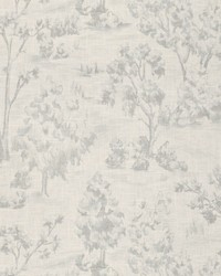 Blue French Country Toile Fabric  Arbe Toile Chambray