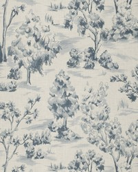 French Country Toile Fabric  Arbe Toile Bleu