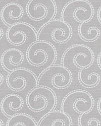Silver Inspriations Vol VII Fabric  Guardino Scroll Silver