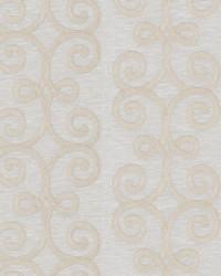 Beige Inspriations Vol VII Fabric  Gagosian Scroll Ecru