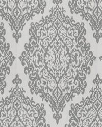 Grey Chromatics Vol XXV Fabric Fabricut Fabrics Triumph Damask Grey