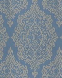 Blue Chromatics Vol XXV Fabric Fabricut Fabrics Triumph Damask Delft