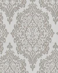 Grey Chromatics Vol XXV Fabric Fabricut Fabrics Triumph Damask Dove