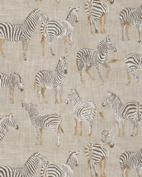 Beige Jungle Safari Fabric  Ubi Zebras Putty