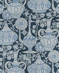 Blue Oriental Fabric  Anapest Indigo